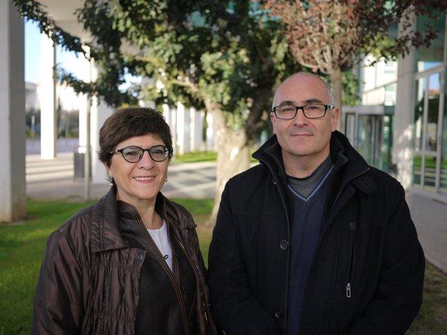 Los profesores Díaz y Simó