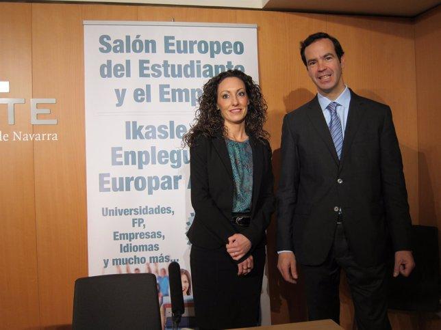 Ion Buxens y Nerea García en la presentación del Salón Europeo del Estudiante
