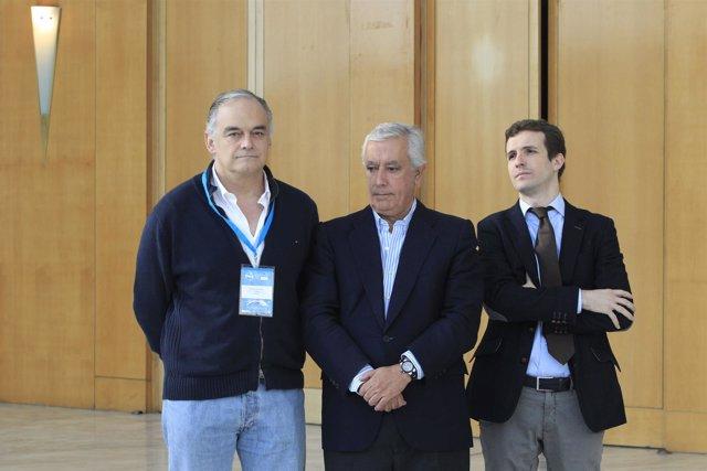 González-Pons, Javier Arenas y Pablo Casado