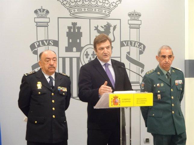 El delegado del Gobierno presenta los datos de delincuencia