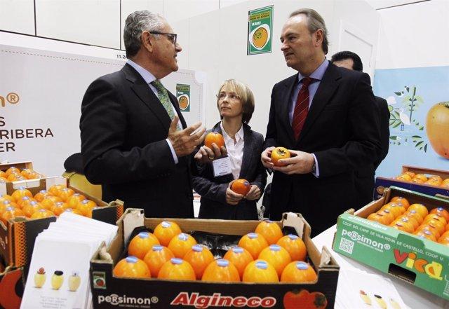 Alberto Fabra en la Feria Fruit Logistica de Berlín