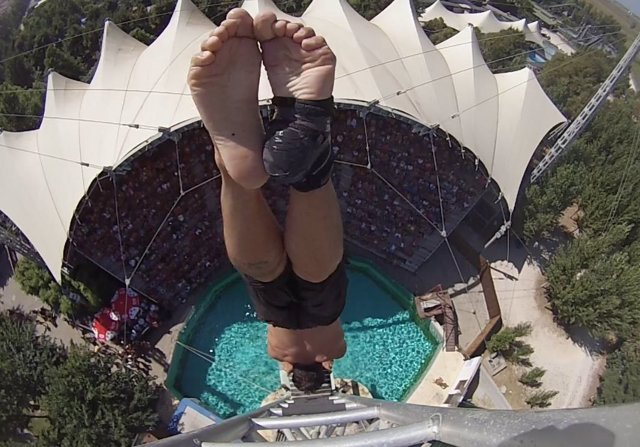 El saltador canario Carlos Gimeno