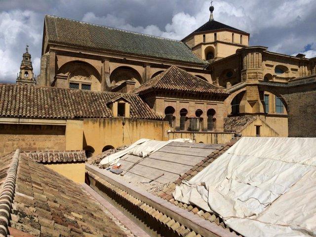 Obra de restauración de la cubierta 14 de la Mezquita-Catedral