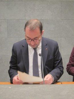 El conseller de Interior Ramon Espadaler en rueda de prensa