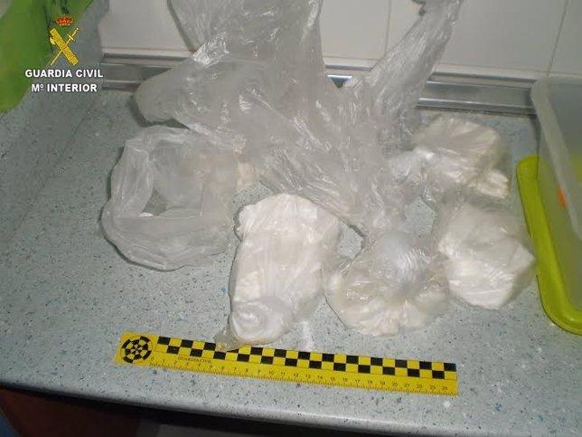 Cocaína intervenida en un laboratorio en Huelva.