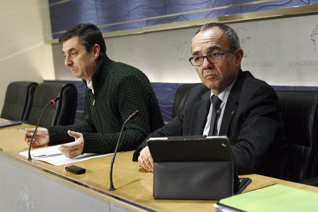 José Luis Centella y Joan Coscubiela.