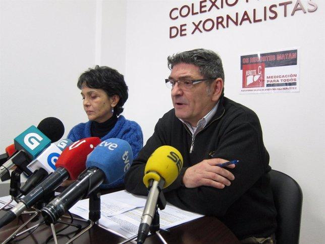 Xulia Alonso y Quique Costas, portavoces plataforma de enfermos de hepatitis C