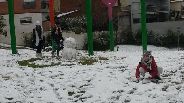 Temporal de nieve en Terrassa, Catalunya