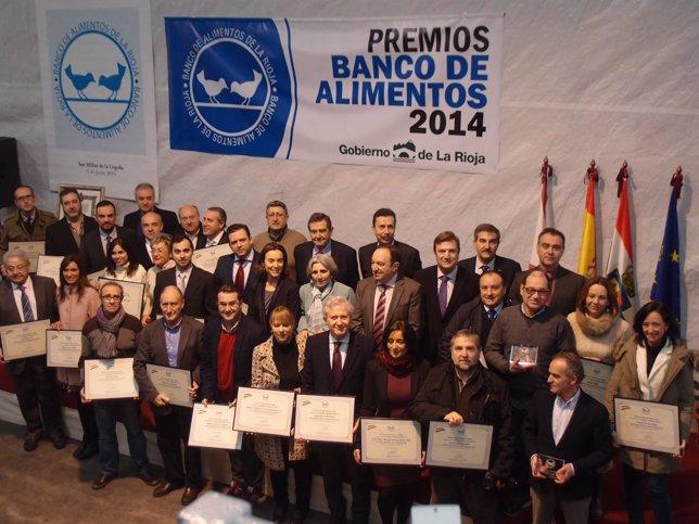 Sanz y Gamarra, con los premiados