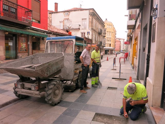 Obras en calles de Torrelavegas