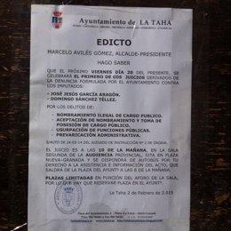 NP. PSOE Linchamiento Público La Tahá 20150204