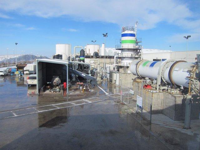Digestor para convertir compost en biogás