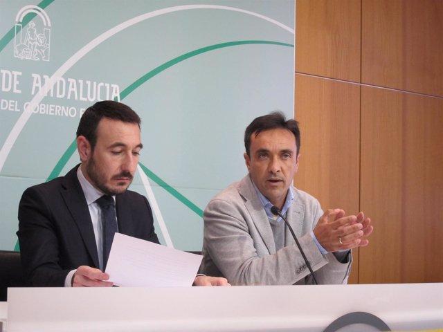 López Gil y Miranda en rueda de prensa
