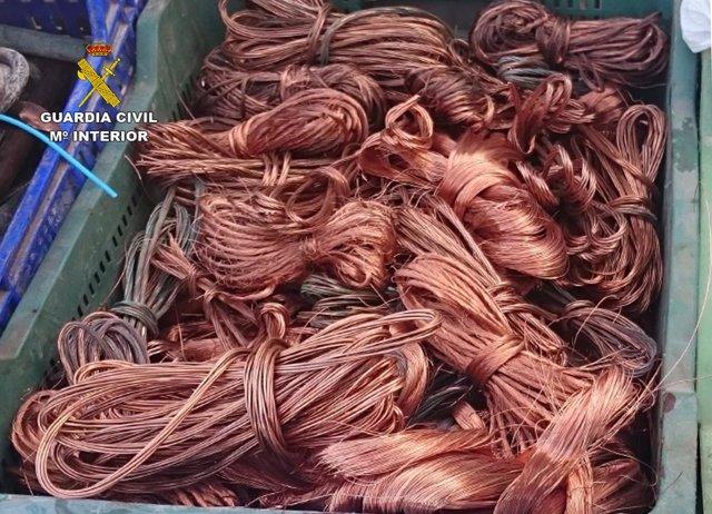 Imagen del cobre recuperado