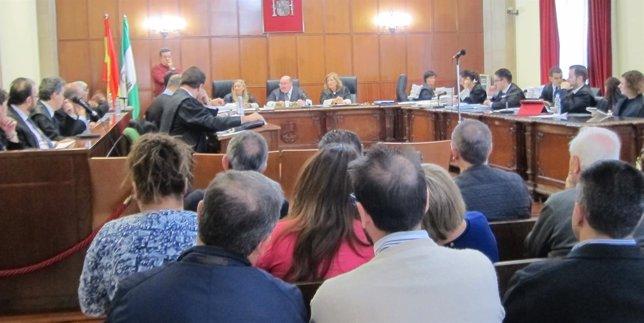 Una de las sesiones del juicio del caso Iniosa