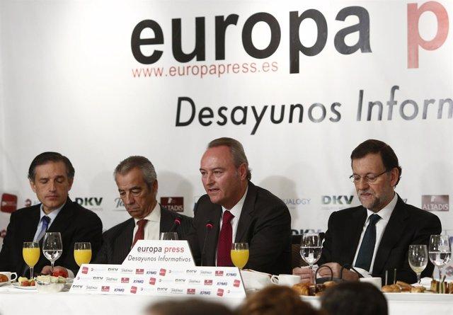 Rajoy con Fabra en el Desayuno de Europa Press