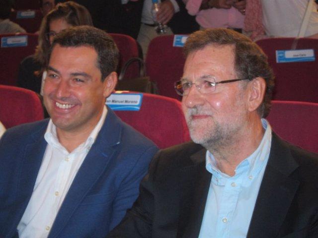 Juanma Moreno y Mariano Rajoy