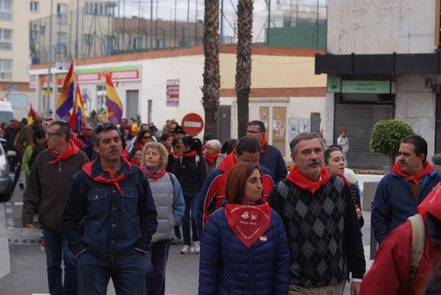 Luis Naranjo, de la Junta, en los actos de la 'Desbandá' en Vélez-Málaga
