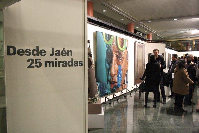 Inauguración de la exposición 'Desde Jaén 25 miradas', organizada por la UJA.