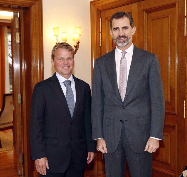 Alex Pella con Don Felipe de Borbón