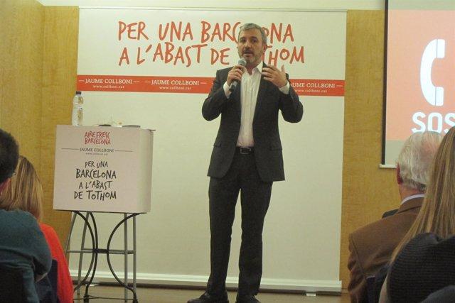 El alcaldable del PSC en Barcelona, Jaume Collboni