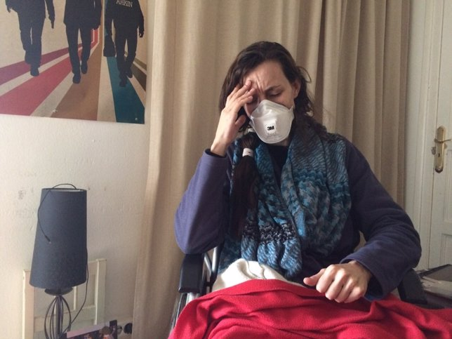 Maria Goretti afectada de sensibilidad múltiple pendiente de un desahucio