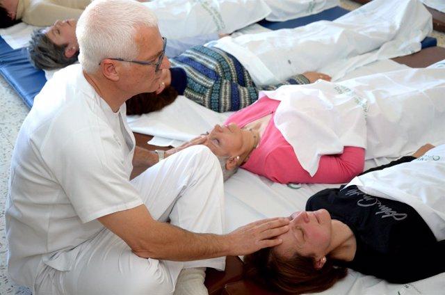 Sesión de relajación para pacientes