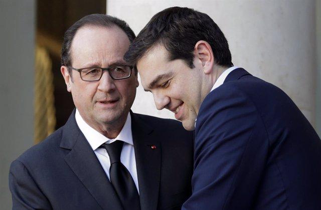 Hollande y Tsipras