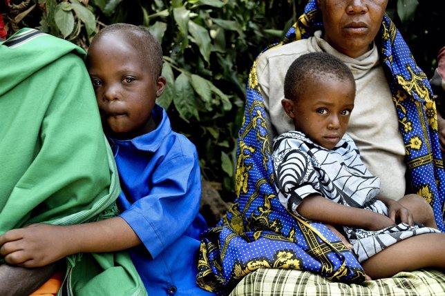 Niños en el distrito de Burera, en Ruanda