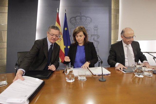 Gallardón, Santamaría, Montoro, Consejo de Ministros