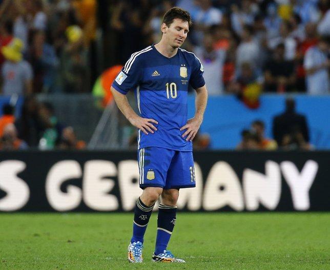 El delantero y capitán de Argentina, Lionel Messi