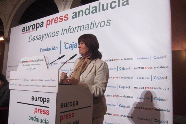 Micaela Navarro, en los Desayunos de Europa Press Andalucía
