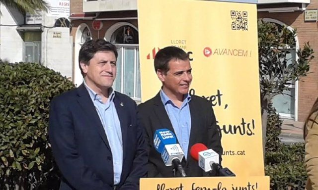 Jordi Orobitg (ERC) y  Joan Bernat