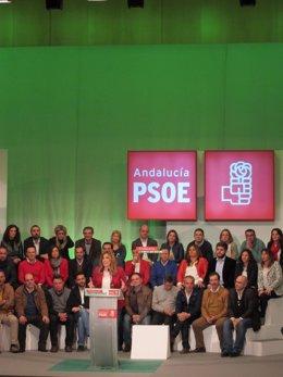 Susana Díaz en su intervención en en Palacio de Congresos en Cádiz