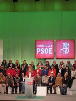 Susana Díaz en su intervención pública en el Palacio de Congresos de Cádiz