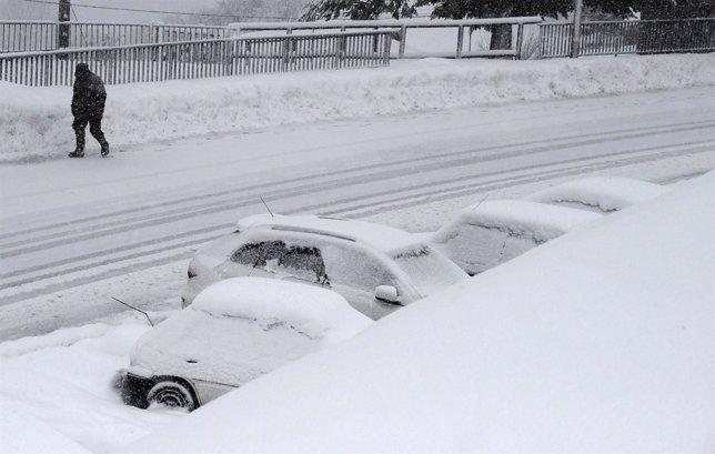 Nevada en Pajares. Nieve. Temporal. Frío. Bajas temperaturas