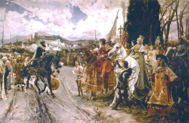 La rendición de Granada, de Francisco Padilla, del fondo histórico del Senado
