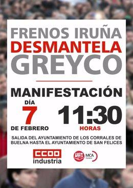 Cartel manifestación Greyco