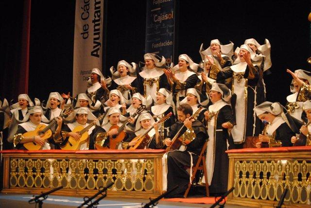 El coro femenino 'Que Dios nos coja confesá'