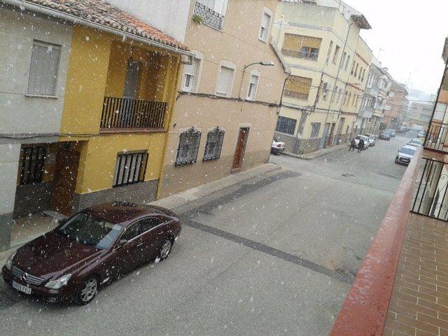 Nieve en Cehegín capital