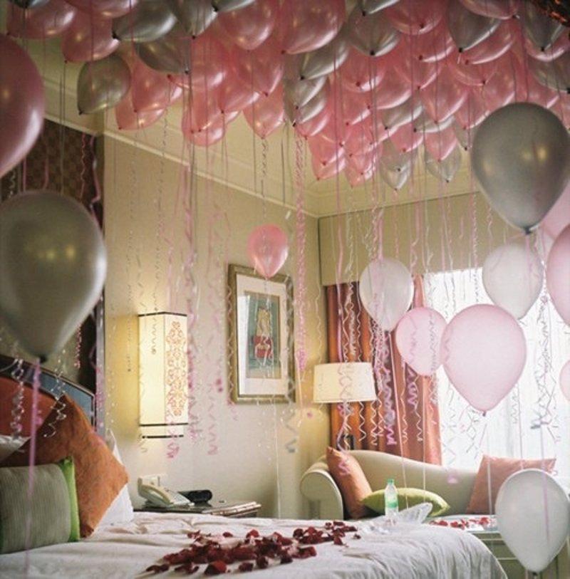 10 manualidades diy muy rom nticas para regalar en san for Cuartos decorados romanticos con globos