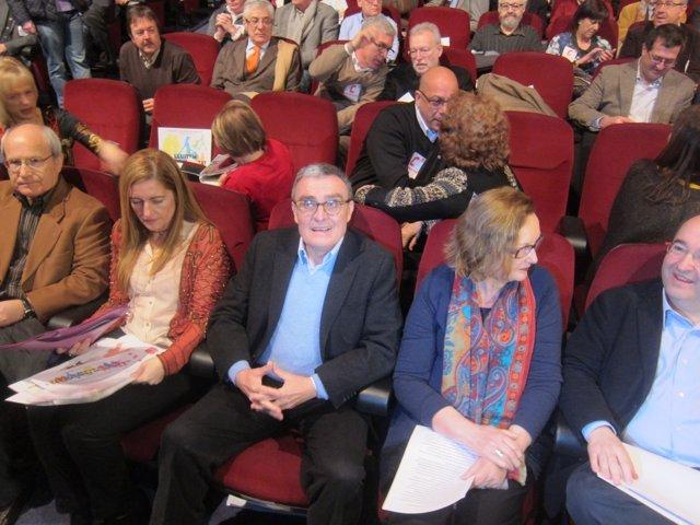 J.Montilla, R.Cadenas, A.Ros, C.Valls y M.Iceta, PSC