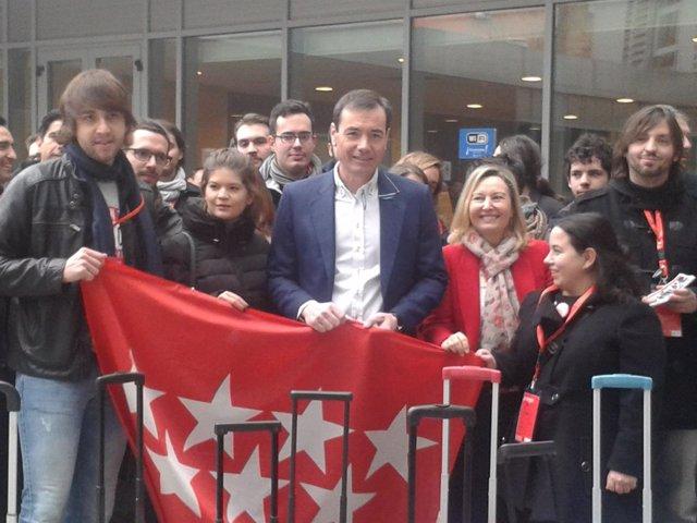 Tomás Gómez a la entrada de la convención autonómica del PSM