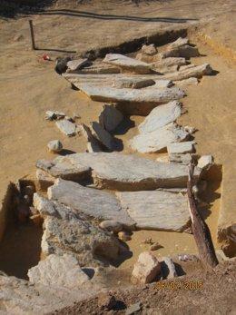 Una de las estructuras descubiertas.