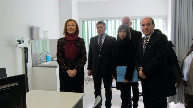 Rudi visita el nuevo centro de salud de La Almozara, en Zaragoza