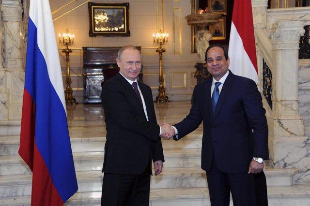 Los presidentes de Rusia, Vladimir Putin, y Egipto, Abdelfatá al Sisi