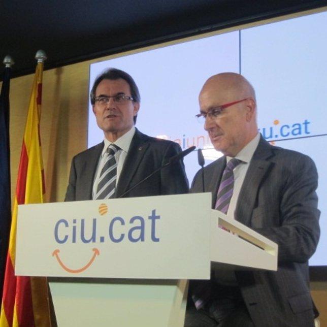 Artur Mas y Josep Antoni Duran