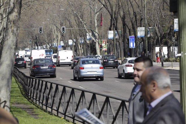 Recursos tráfico urbano. Coches. Conducción