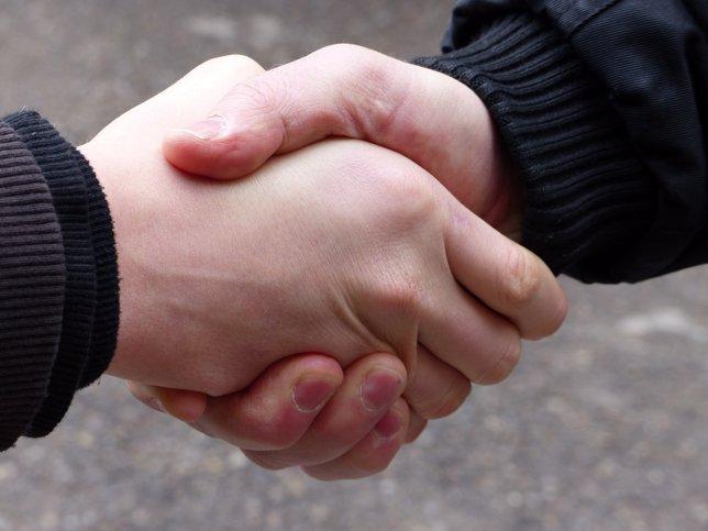Apretón de manos, saludo