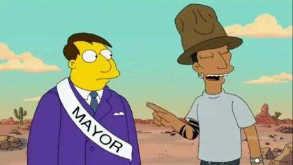 Vídeo: Pharrell Williams, expulsado de Springfield por cantar Happy